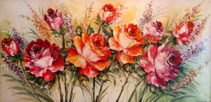 Lia Gallery | Bunga - Lukisan Natural