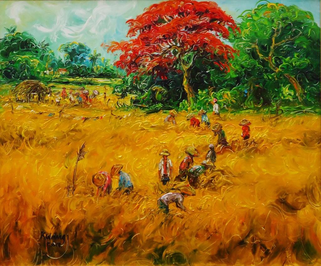Lia Gallery | Panen - Lukisan Natural