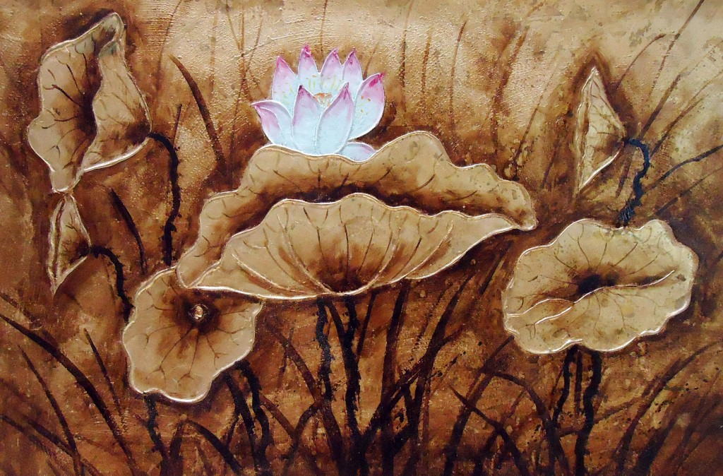 Lia Gallery   Teratai (2) - Lukisan Dekoratif