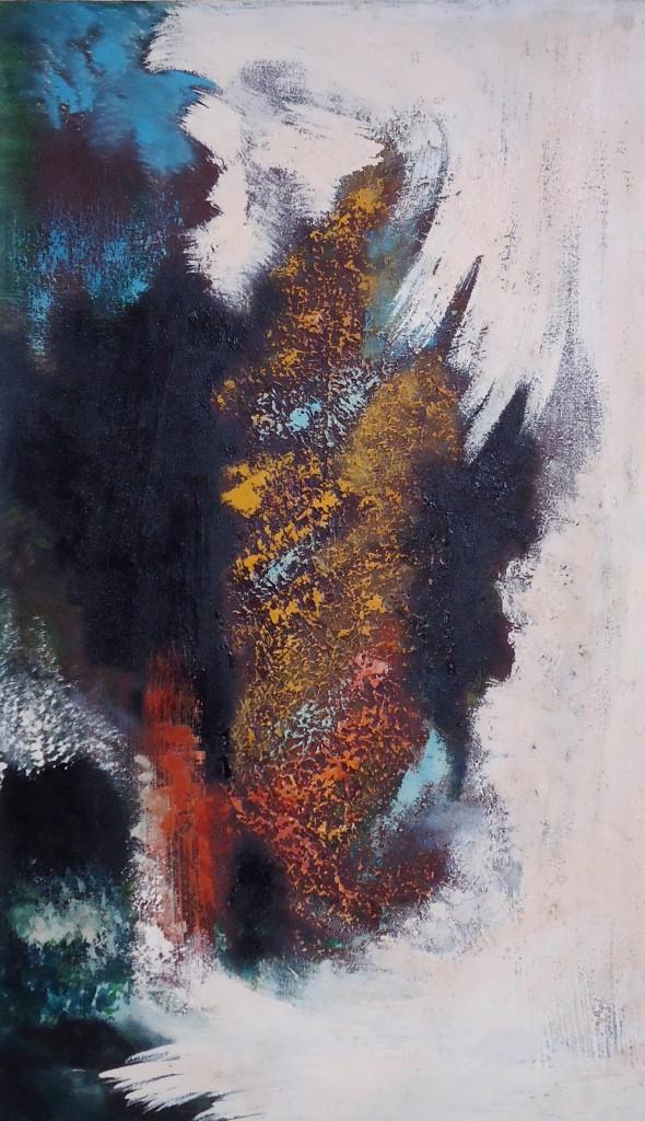 Lukisan Abstrak Teguh Oil painting