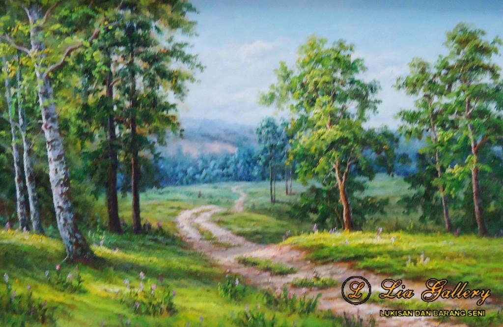 lukisan pemandangan