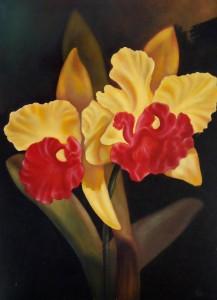 Lukisan Bunga Anggrek - Lia Gallery - Natural
