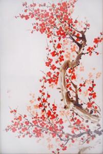 Lukisan Bunga Sakura - Lia Gallery - Natural