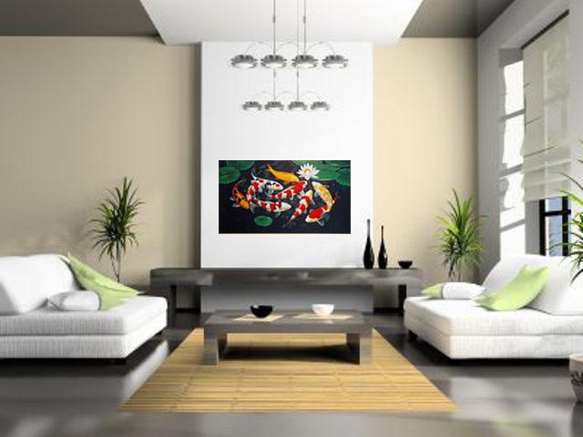 Lukisan Ikan Koi (2) - Lia Gallery - Natural Interior