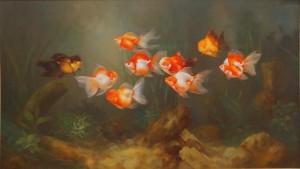 Lukisan Ikan Koki - Lia Gallery - Natural