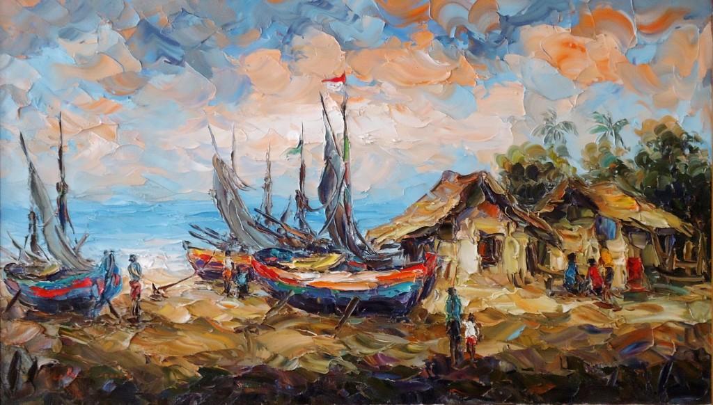 Lukisan Kapal- Lia Gallery - Natural