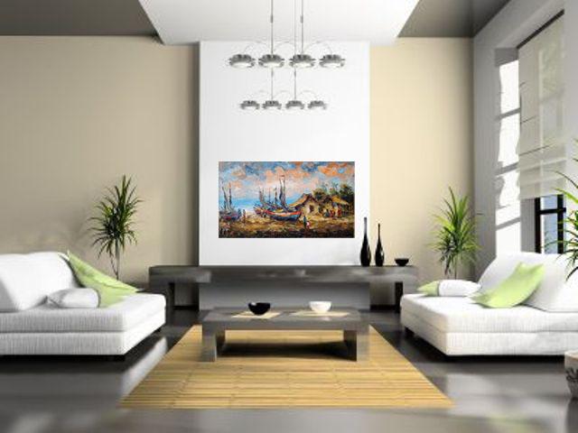 Lukisan Kapal- Lia Gallery - Natural Interior 2