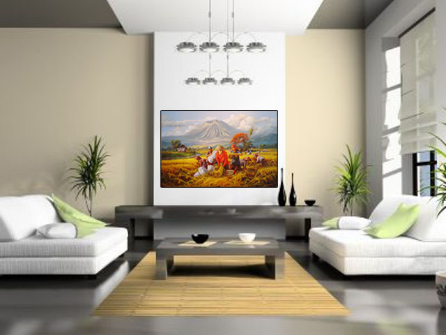 Lukisan Panen Raya Lia Gallery - Natural Interior 2
