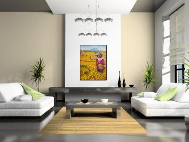 Lukisan Wanita & Panen - Lia Gallery - Natural Interior