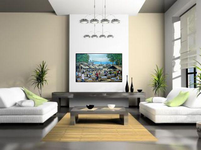 Lukisan Pasar Ikan- Lia Gallery - Natural Interior 2