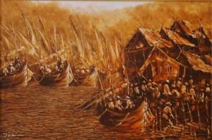 Lukisan Pelabuhan - Lia Gallery - Natural