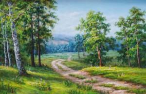 Lukisan Pemandangan (1) - Lia Gallery - Natural