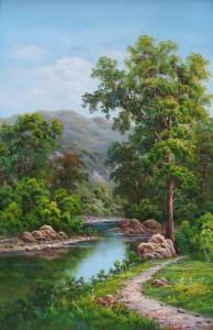 Lukisan Pemandangan (2) - Lia Gallery - Natural