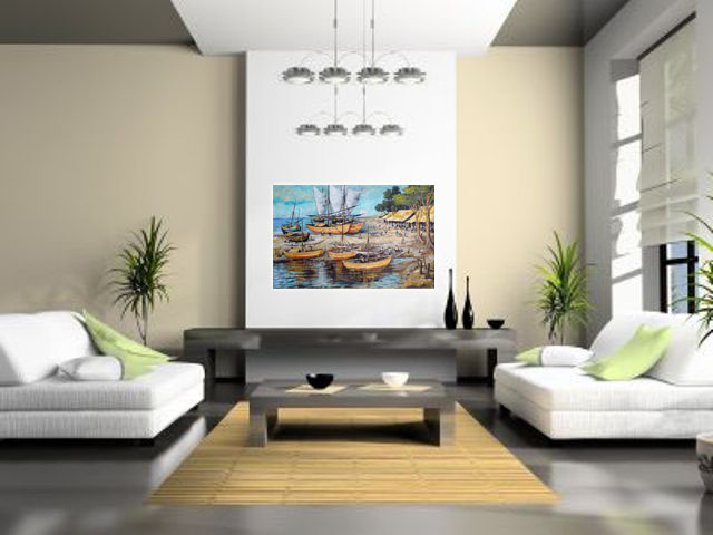 Lukisan Perahu - Lia Gallery - Natural Interior 2