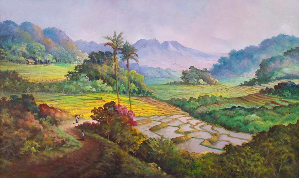 Lukisan Sawah - Lia Gallery - Natural