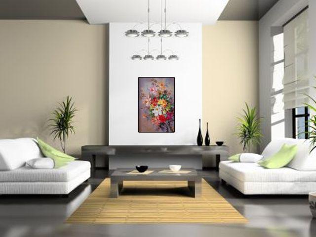 Lukisan Serangkai Bunga - Lia Gallery - Natural Interior