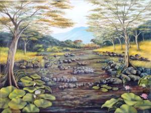 Lukisan Sungai- Lia Gallery - Natural