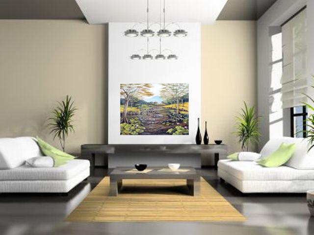 Lukisan Sungai- Lia Gallery - Natural Interior 2
