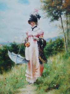 Lukisan Wanita Eropa - Lia Gallery - Natural
