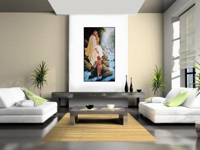 Lukisan Yesus Menolong - Lia Gallery - Natural Interior