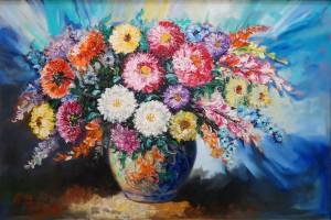 lukisan natural -Rangkaian Bunga | Lia Gallery