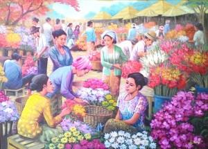 jual lukisan pasar